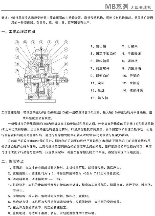 MB无级变速机安装方式