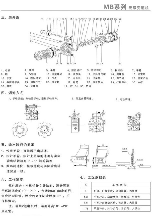 MB无级变速机安装方式1
